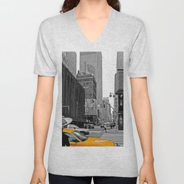 NYC - Yellow Cabs - The City Unisex V-Neck
