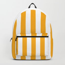 Beer Yellow and White Vertical Beach Hut Stripes Backpack