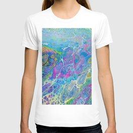 Acrylic Pour - Rainbow Paddle Pop T-shirt