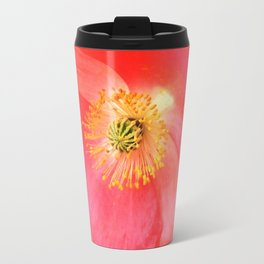California Pink Poppy Travel Mug