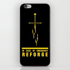 In case of emergency reforge iPhone & iPod Skin