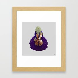 Ultra Blue Cellist Framed Art Print