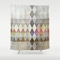 grunge Shower Curtains featuring Grunge K7 by thinschi