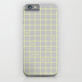 happy yellow graph iPhone Case