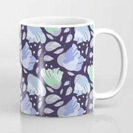 Modern abstract mint pastel purple floral illustration Coffee Mug