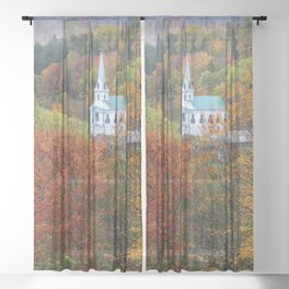 Divine Autumn in New England Sheer Curtain