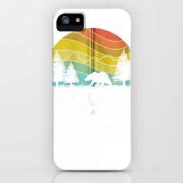 Sequoia National Forest Retro Camping California Kern River Zip Hoodie iPhone Case