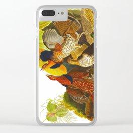 Ruffed Grouse Bird Clear iPhone Case
