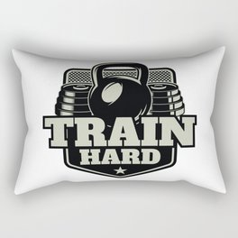 Train Hard Rectangular Pillow