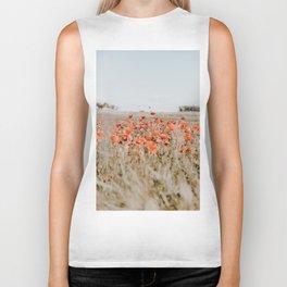 flower field Biker Tank