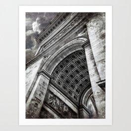 Arc de Triomphe | Paris [Sky cut 428]  Art Print