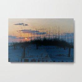 Sand Dune Sunrise Perspective Metal Print