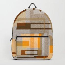 Mid Century Modern Blocks on Sand Backpack