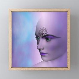 she likes fractals Framed Mini Art Print