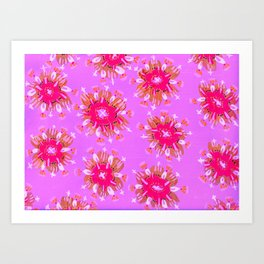 Lilac Christie Rose Art Print