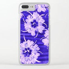 Blue Aspen Rose Clear iPhone Case