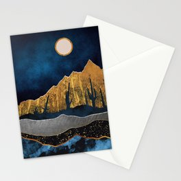 Midnight Desert Moon Stationery Cards