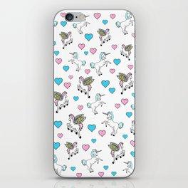 Unicorns and Pegasus and Hearts iPhone Skin