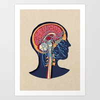 anatomy Art Prints featuring anatomy by kanakiki