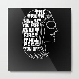 Truth Will Set You Free Gloria Steinem Metal Print