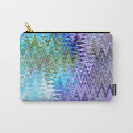 Charming Distractions, Abstract Art Waves Carry-All Pouch