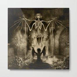 Dark Victorian Portrait Series: Lady Charlotte Nightshade, Her Majesty's Necromancer Metal Print