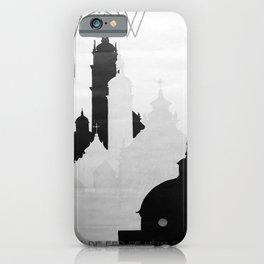 retro noir et blanc Lwow iPhone Case