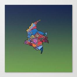 Colombia Verde Azul Canvas Print