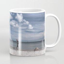Lonely man at the beach Coffee Mug