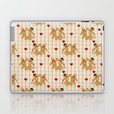 Gingerbread Family Country Plaid Christmas Laptop & iPad Skin