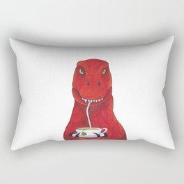 Sir Timothy the Tea Rex Rectangular Pillow