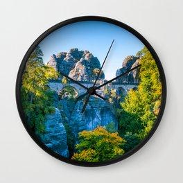Basteibrücke Wall Clock