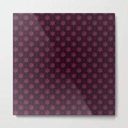 Festive Pink Snowflake Pattern Metal Print