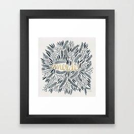 Pardon My French – Black & Gold Framed Art Print