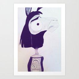 Llama Kuzco Art Print