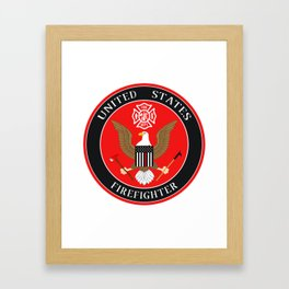 Firefighter Symbol Framed Art Print