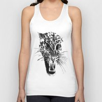 snow leopard Tank Tops featuring Snow Leopard by pbnevins