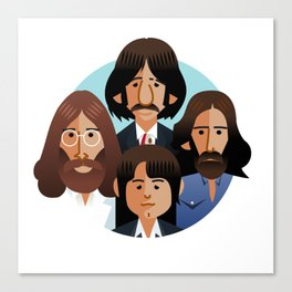 john-paul-george-ringo-1969 Canvas Print