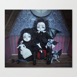 Vincent and Vanessa, the vampire children Canvas Print