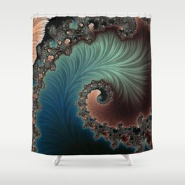 Velvet Crush - Fractal Art Shower Curtain
