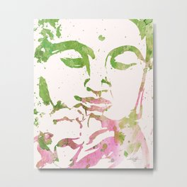 Watercolor Buddha No. 2011 by Kathy Morton Stanion Metal Print