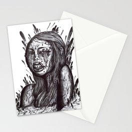 Swamp Girl uncolored  Stationery Cards