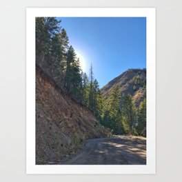 Light the Way - Red Mountain, Glenwood Springs, CO Art Print