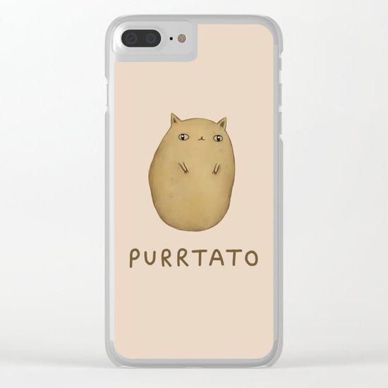 Purrtato Clear iPhone Case