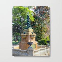 Hyde Park Fountain Metal Print