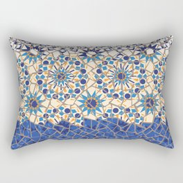 Islamic Geometry Faux Mosaic Rectangular Pillow