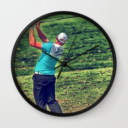 The Golf Swing Wall Clock