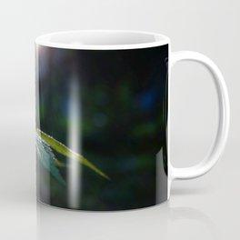 Wet Leaf with Lens Flare Coffee Mug