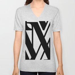 Hidden Letters. Baskerville M Unisex V-Neck
