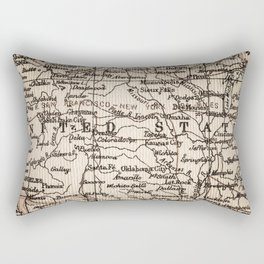 Let's Go Get Lost in the USA Rectangular Pillow